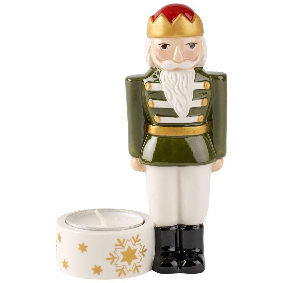 VILLEROY & BOCH Teelichthalter Nussknacker groß 13c »Nostalgic Light« in Dekoriert