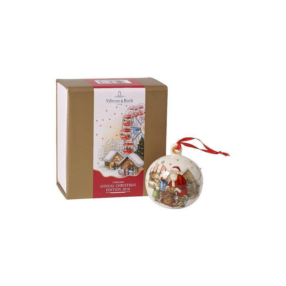 VILLEROY & BOCH Kugel 2016 7cm »Annual Christmas Edition« in Dekoriert