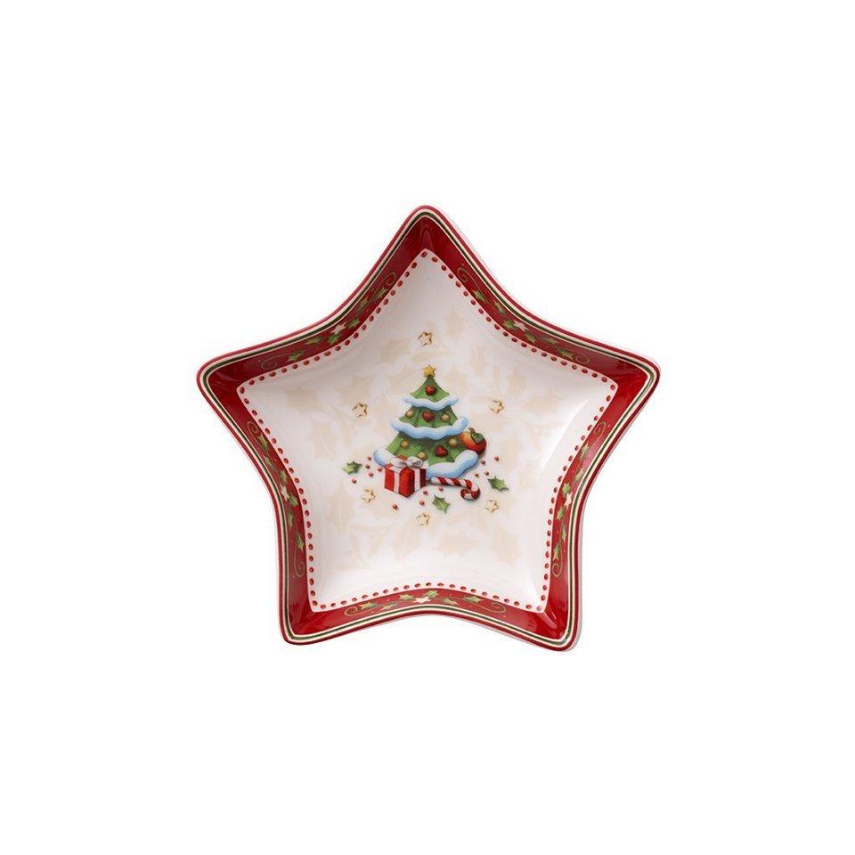 VILLEROY & BOCH Sternschale klein Weihnachtsbaum 13 »Winter Bakery Delight« in Dekoriert