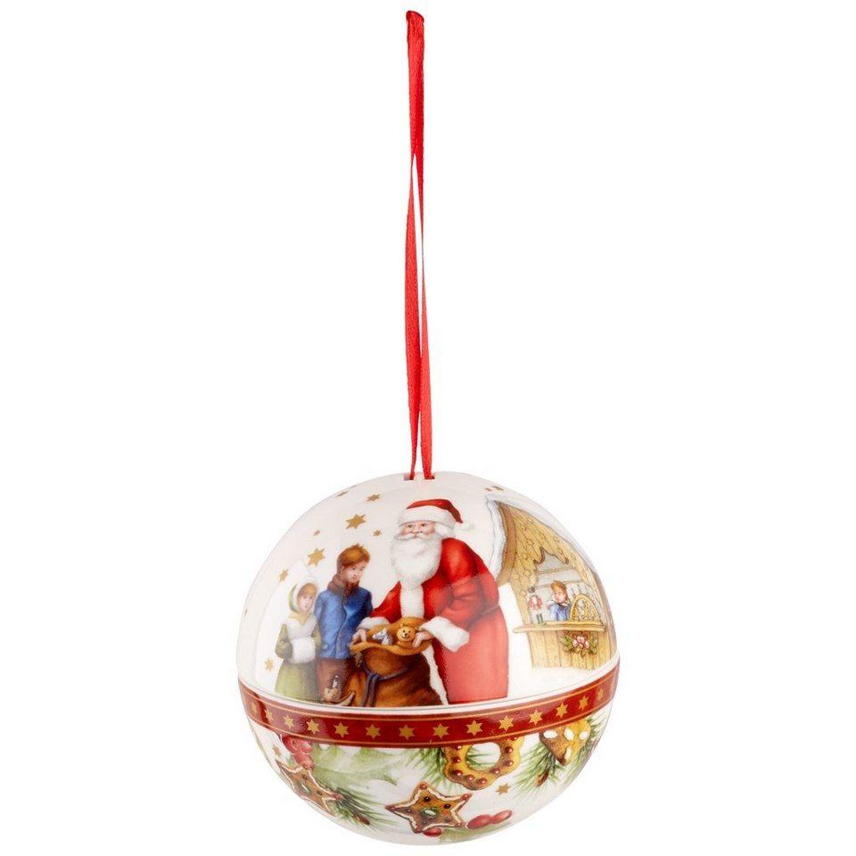 VILLEROY & BOCH Kugel Santa 10cm »Christmas Balls« in Dekoriert