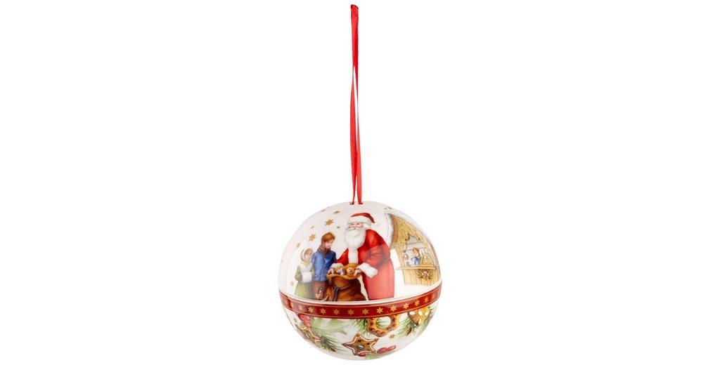 VILLEROY & BOCH Kugel Santa 10cm »Christmas Balls«