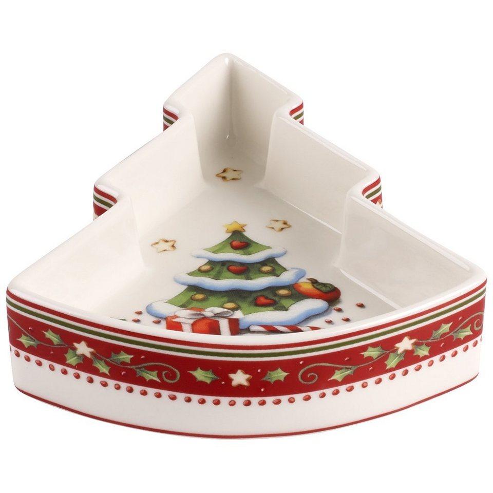 VILLEROY & BOCH Schälchen Weihnachtsbaum 13x11x3cm »Winter Bakery Decoration« in Dekoriert