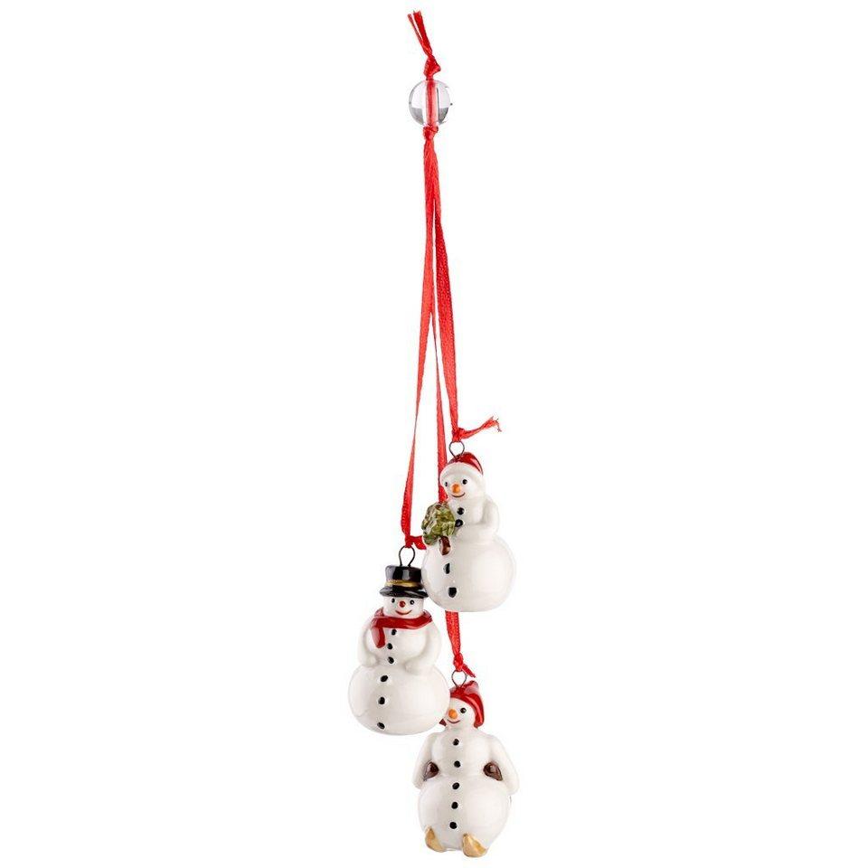 VILLEROY & BOCH Trio-Ornament Schneemann 21cm »My Christmas Tree« in Dekoriert