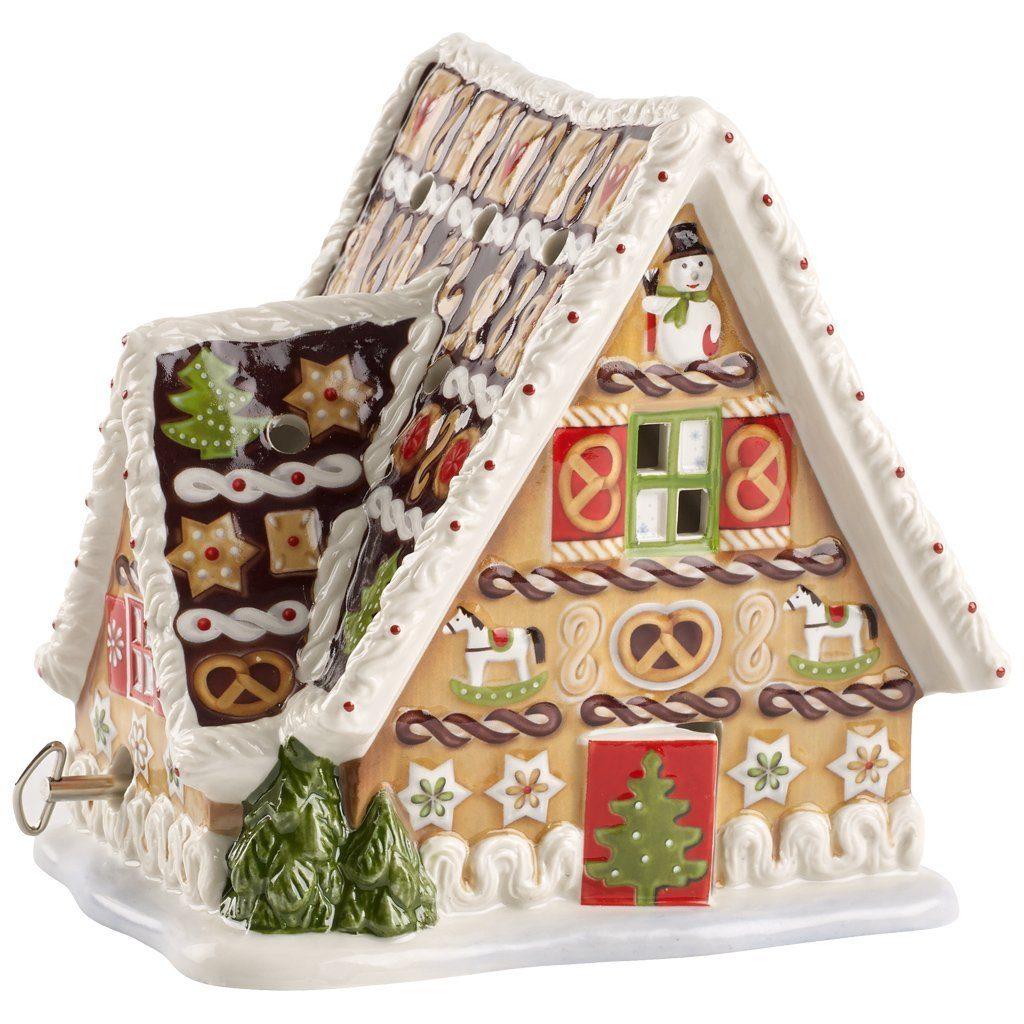 VILLEROY & BOCH Lebkuchenhaus mit Spieluhr 16x13x16 »Christmas Toys«