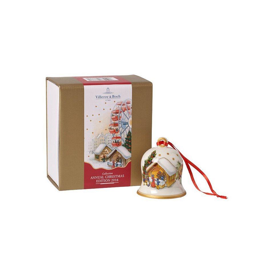 VILLEROY & BOCH Glocke 2016 7cm »Annual Christmas Edition« in Dekoriert
