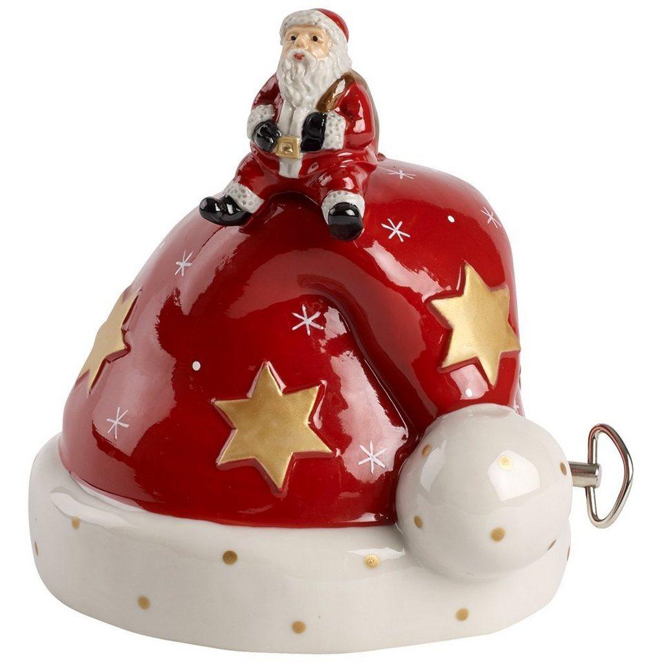 VILLEROY & BOCH Mütze mit Santa 12cm »Nostalgic Melody« in Dekoriert
