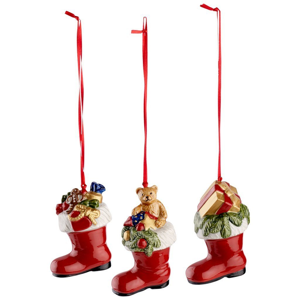VILLEROY & BOCH Ornamente Stiefel, Set 3tlg. 8cm »Nostalgic Ornaments«