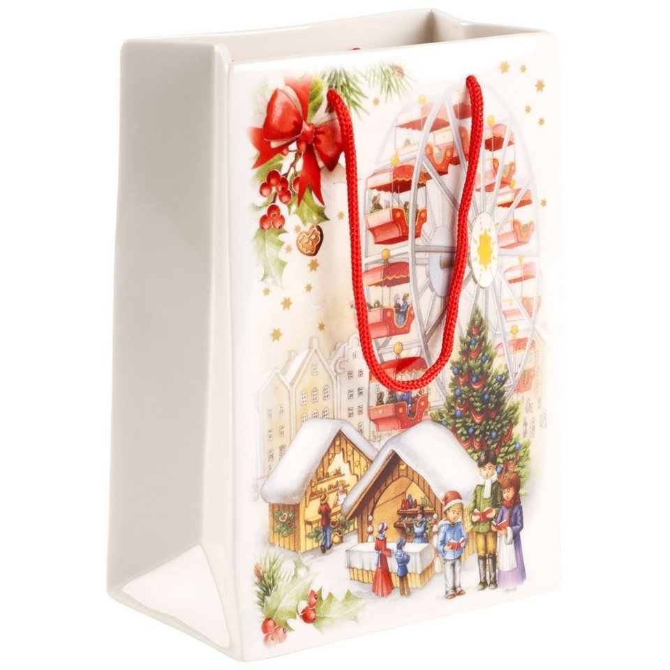 VILLEROY & BOCH Vase / Geschenktüte groß 14,5x7,5x2 »Toy's Fantasy« in Dekoriert