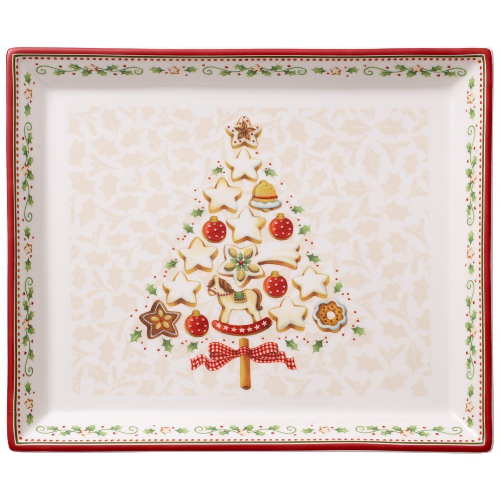 VILLEROY & BOCH Gebäckplatte rechteckig, klein 27x2 »Winter Bakery Delight«