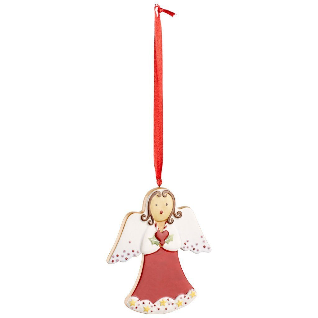 VILLEROY & BOCH Ornament Engel rot 9cm »Winter Bakery Decoration«