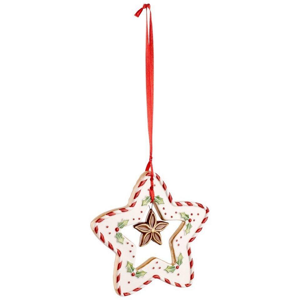 VILLEROY & BOCH Ornament Stern 9cm »Winter Bakery Decoration« in Dekoriert