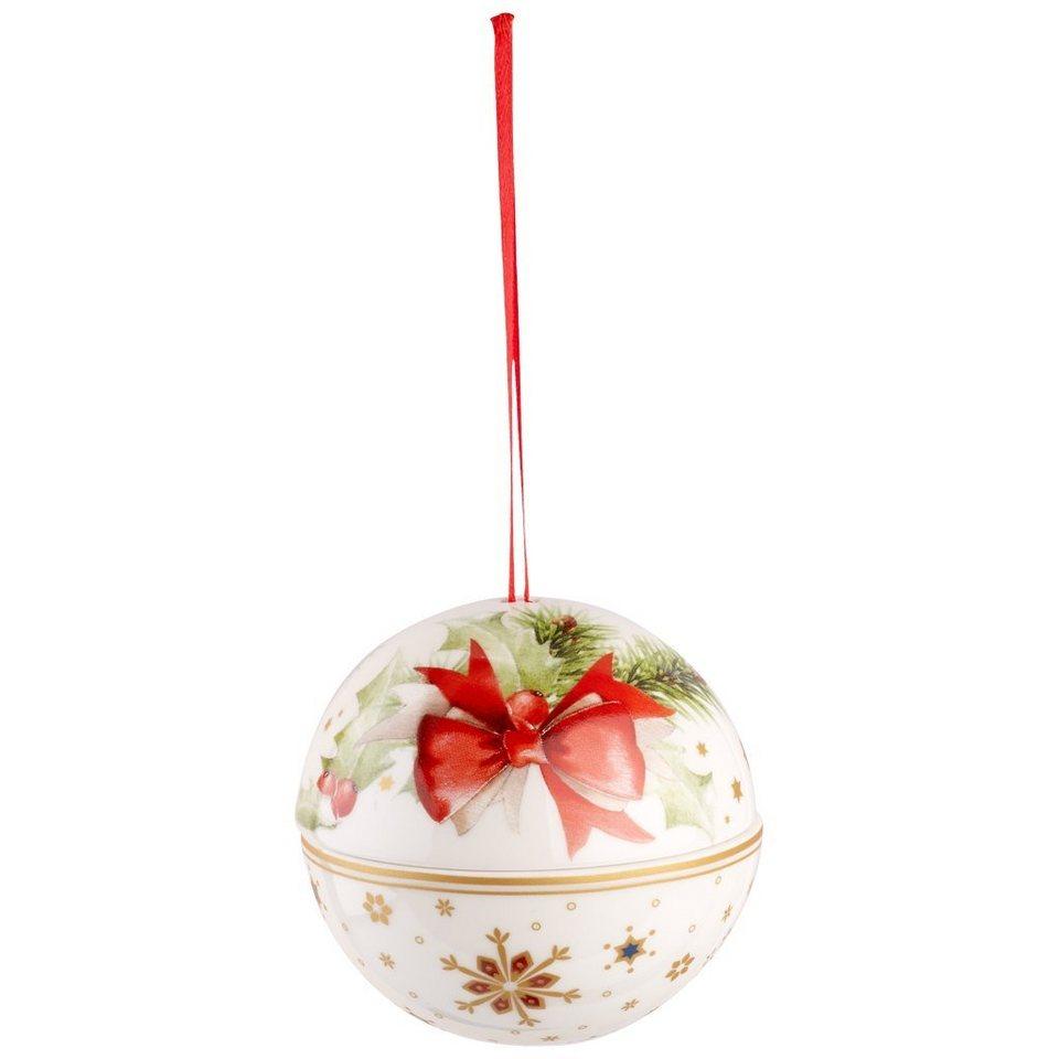 VILLEROY & BOCH Kugel Schleife 10cm »Christmas Balls« in Dekoriert