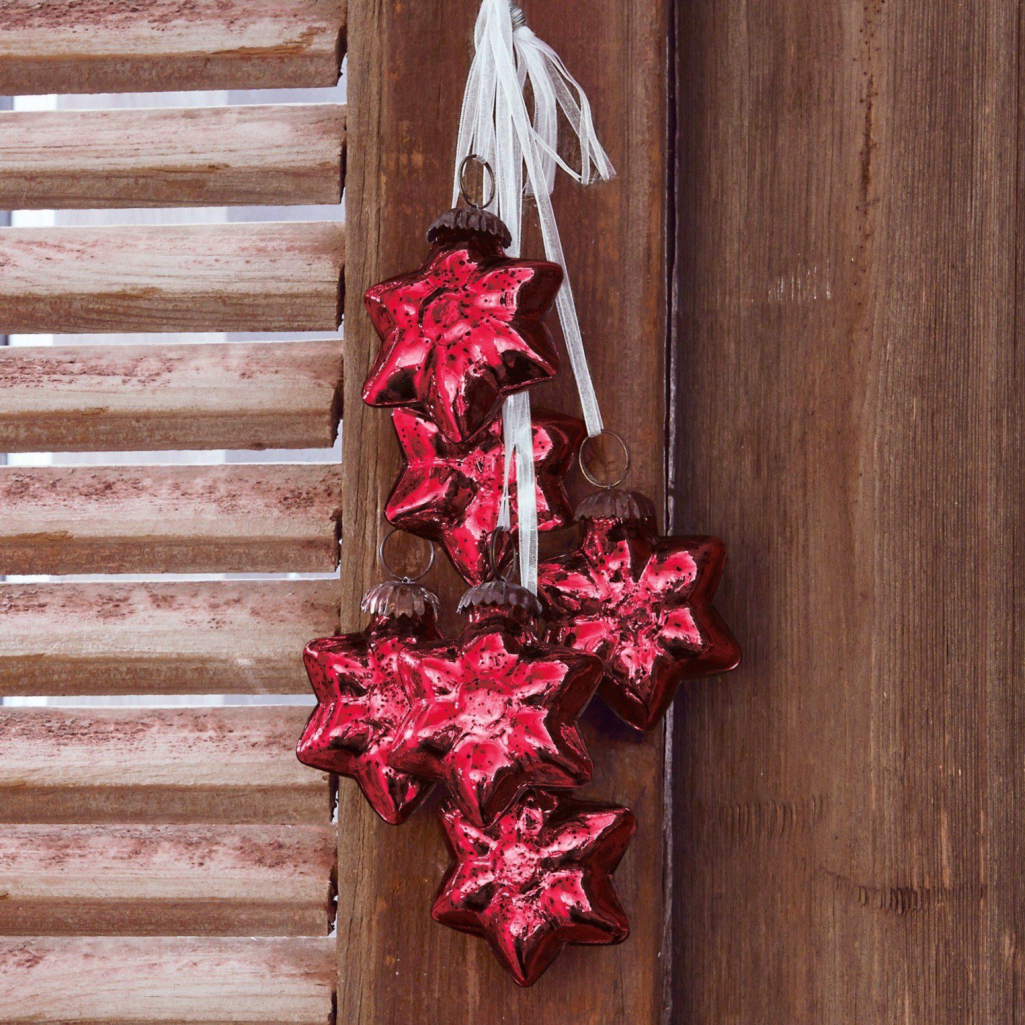 Loberon Weihnachtsschmuck 6er Set »Elicia«