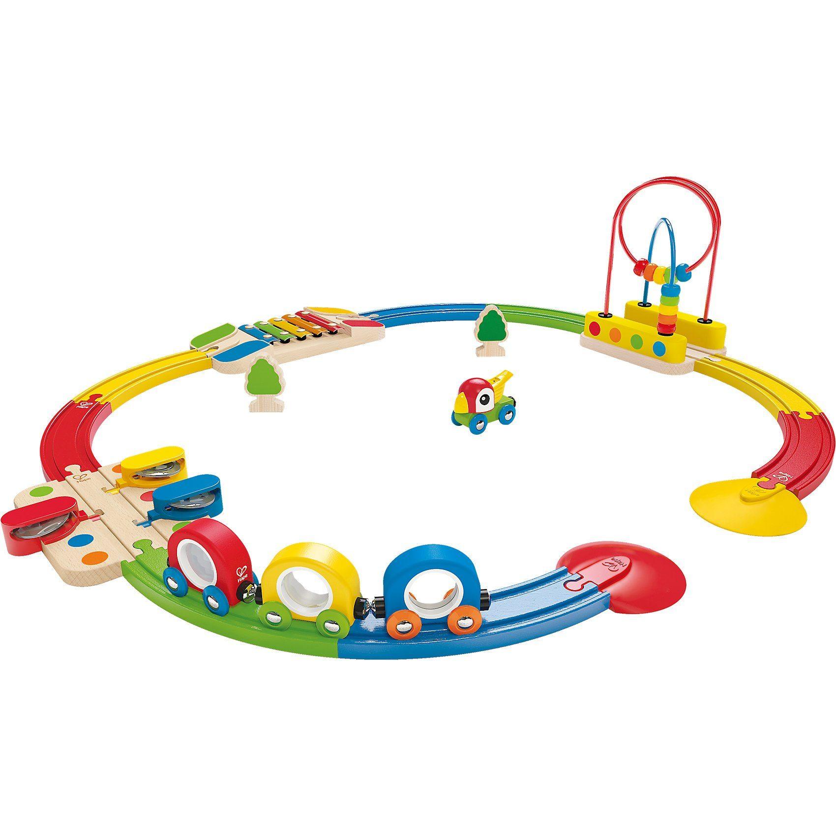 HAPE Abenteuer Eisenbahn-Set mit Musikinstrumenten