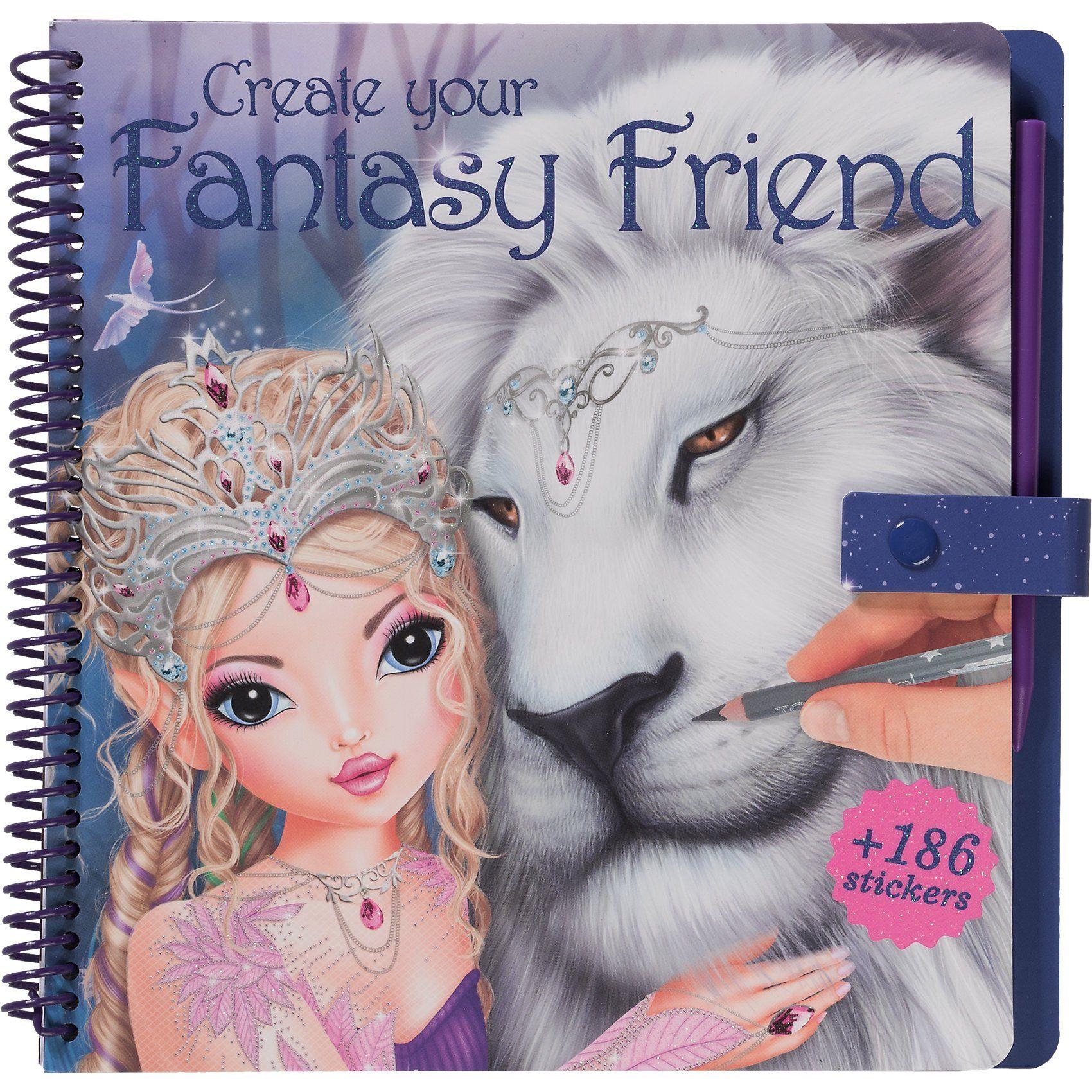Depesche Create your Fantasy Friend - Malbuch mit Rubbelbildern
