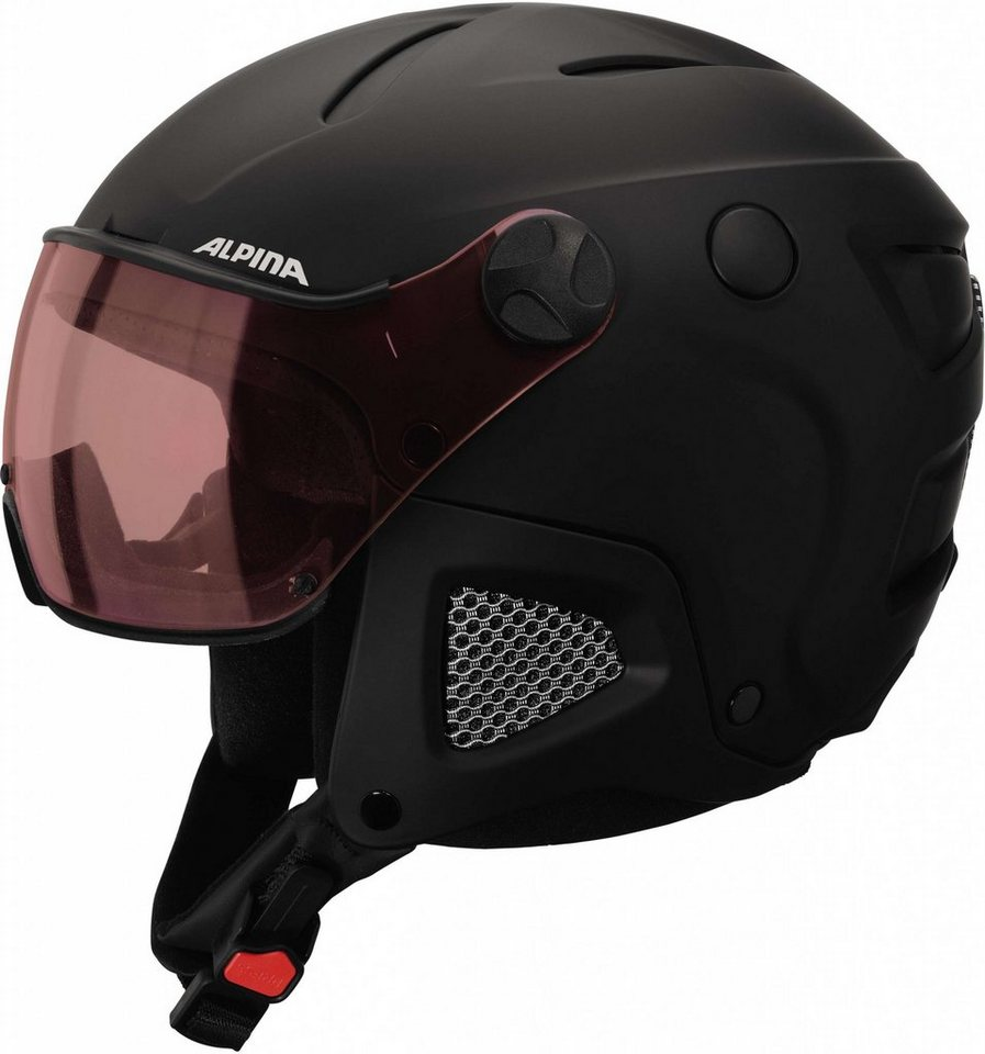 Alpina Ski - / Snowboardhelm »Attelas Visor QVM Helmet« in schwarz
