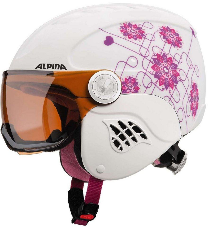 Alpina Ski - / Snowboardhelm »Carat Visor Helmet« in weiß