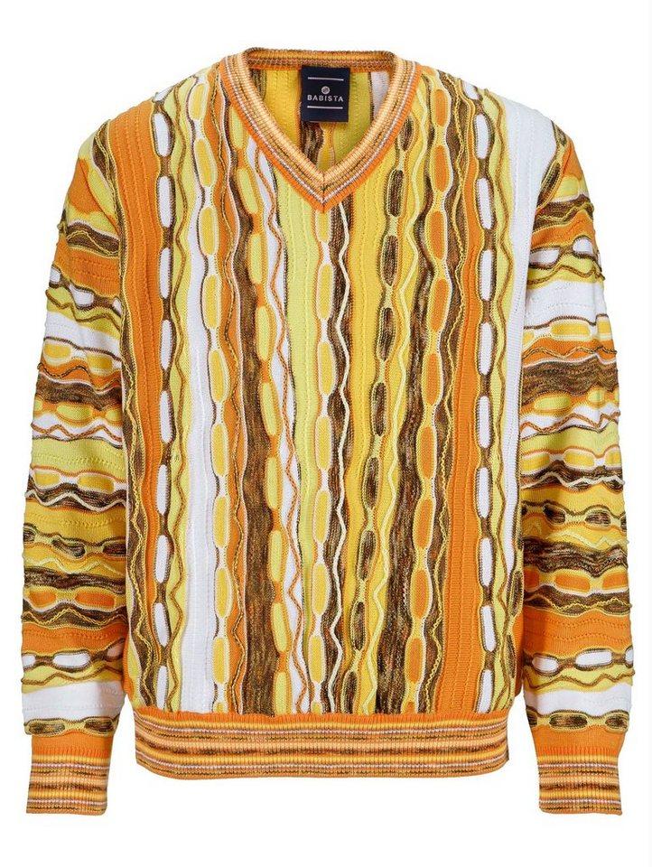 Babista Pullover in orange-gelb