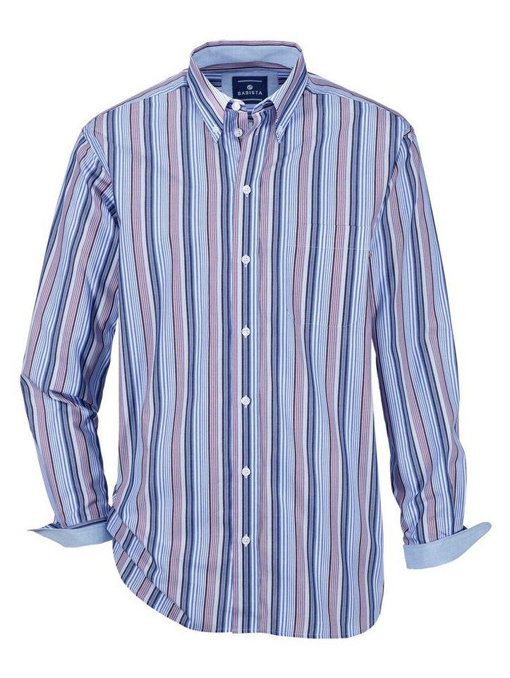 Babista Hemd mit Streifenmuster in weiß-blau