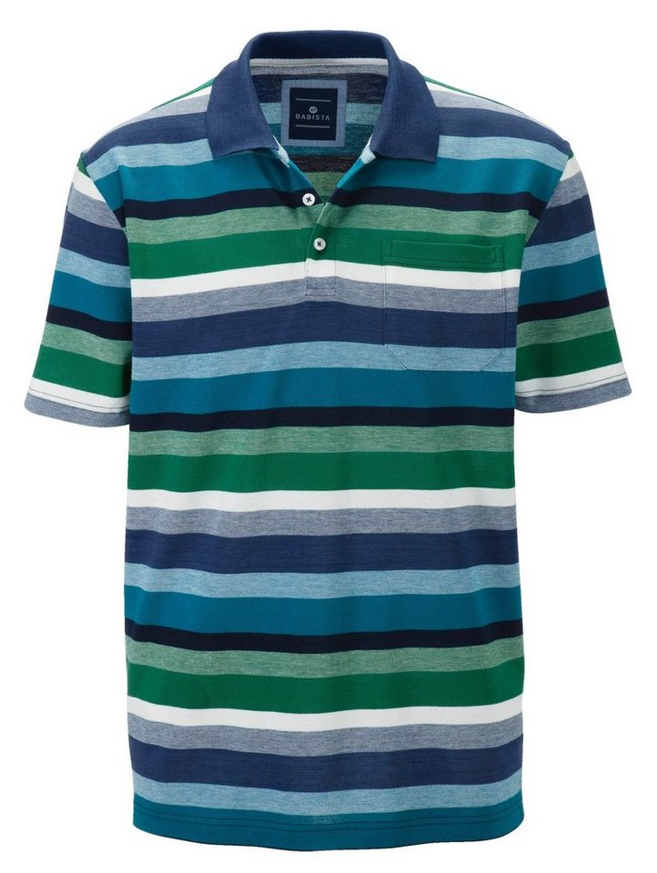 Babista Poloshirt in blau-grün
