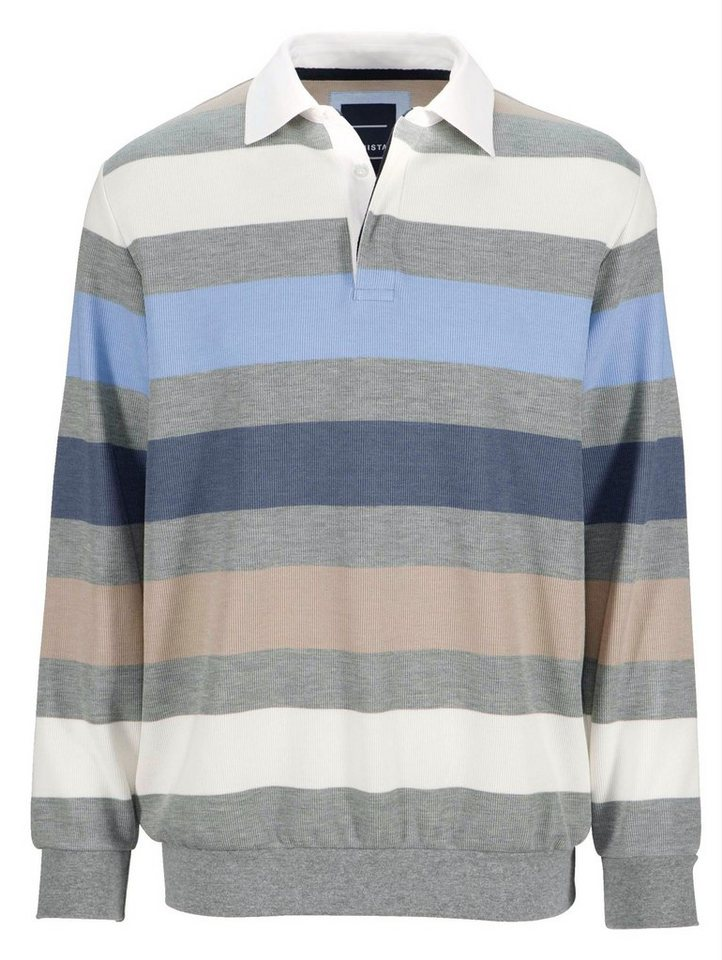 Babista Sweatshirt in fein gerippter Qualität in grau-blau-hellbrau