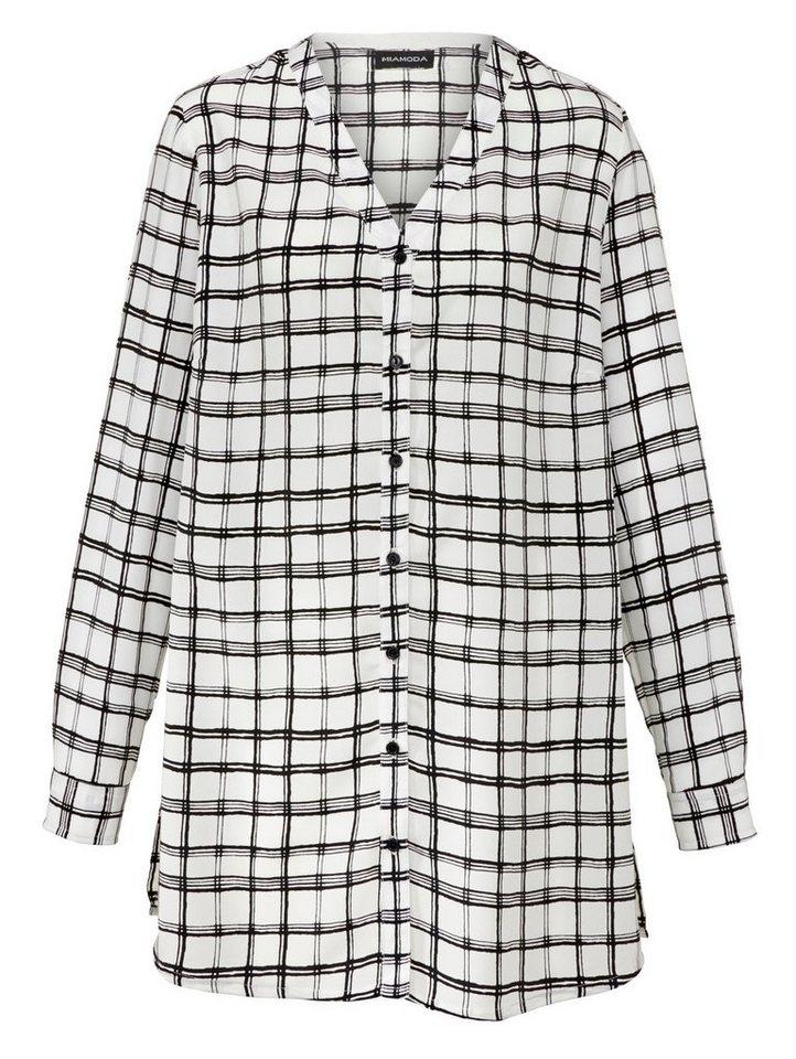 MIAMODA Bluse in schwarz/weiß