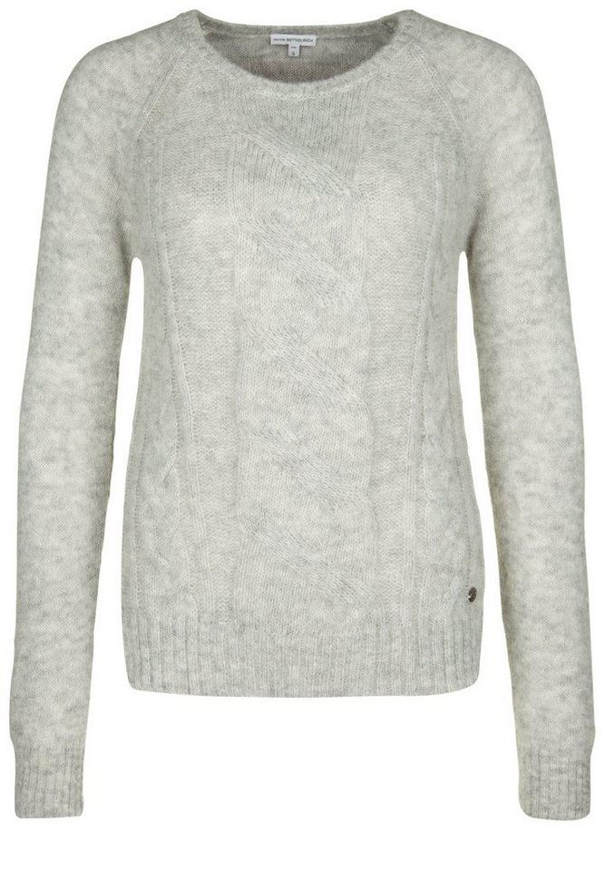Better Rich Strickpullover »CABLE« in light gray