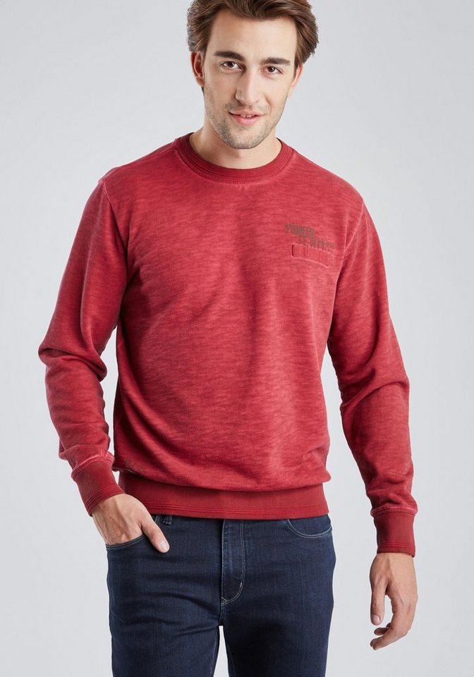 PIONEER Sweatshirt in rot