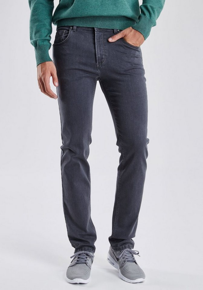 PIONEER Megaflex Jeans »RANDO« in grey denim