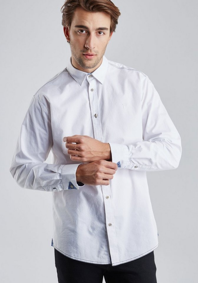 PIONEER Hemd in weiß