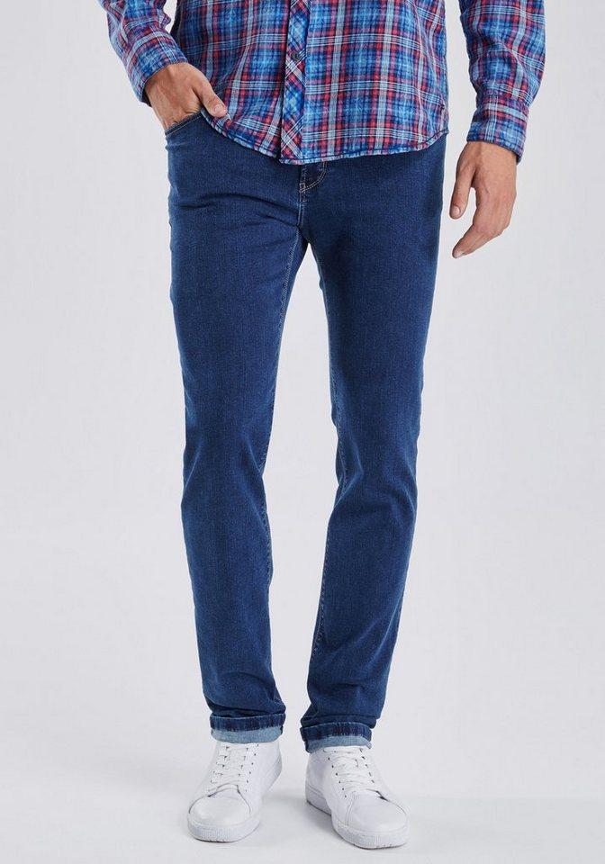 PIONEER Megaflex Jeans »RANDO« in blue denim