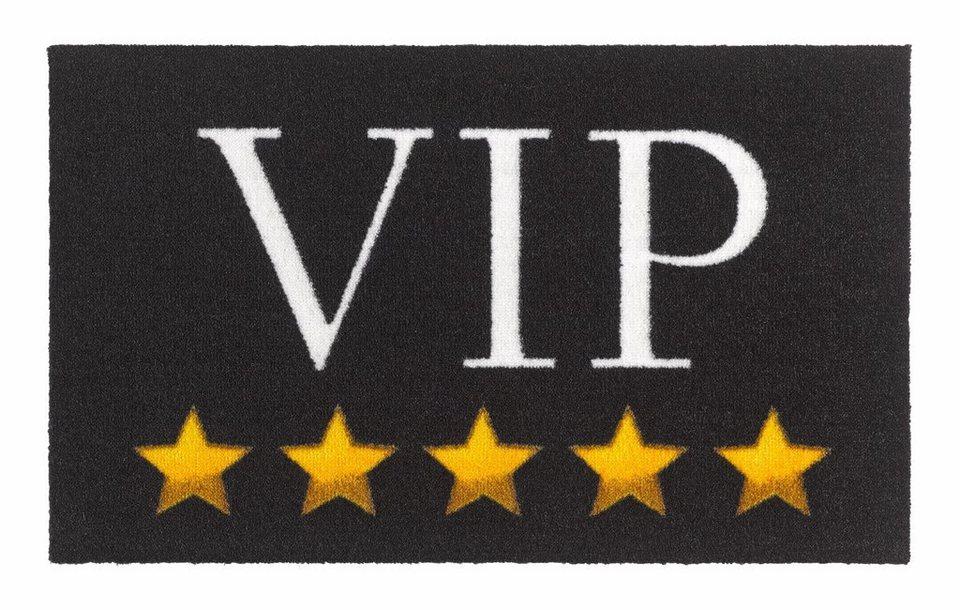 Fußmatte, Zala Living, »VIP Stars«, getuftet in schwarz gelb
