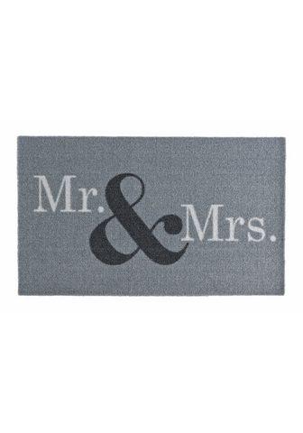 ZALA LIVING Durų kilimėlis »Mr & Mrs« rechteckig a...
