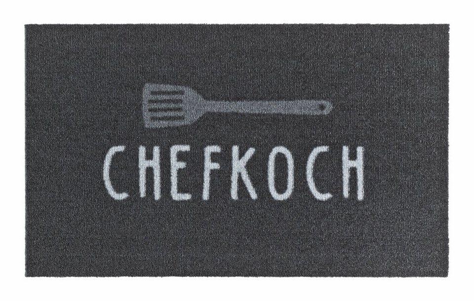 Fußmatte, Zala Living, »Chefkoch«, getuftet in anthrazit