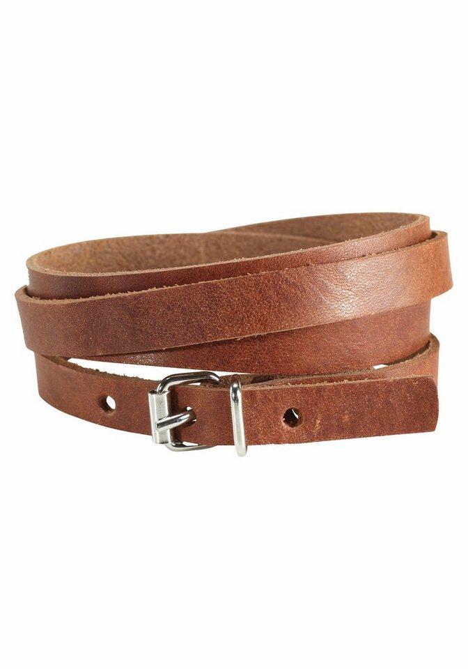 J. Jayz Armband »zum Wickeln« in braun