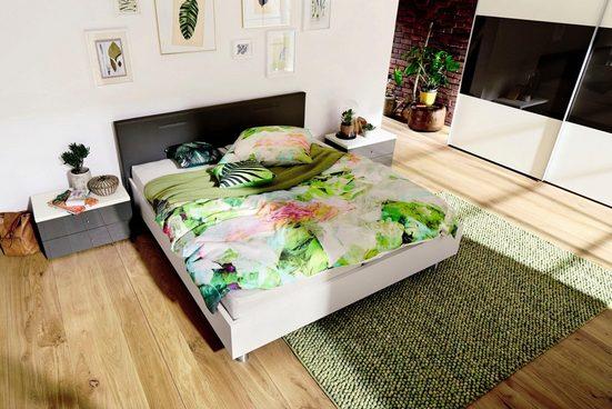 now! by hülsta Bett »now! time«, mit Polsterkopfteil in Kunstleder weiß oder grau