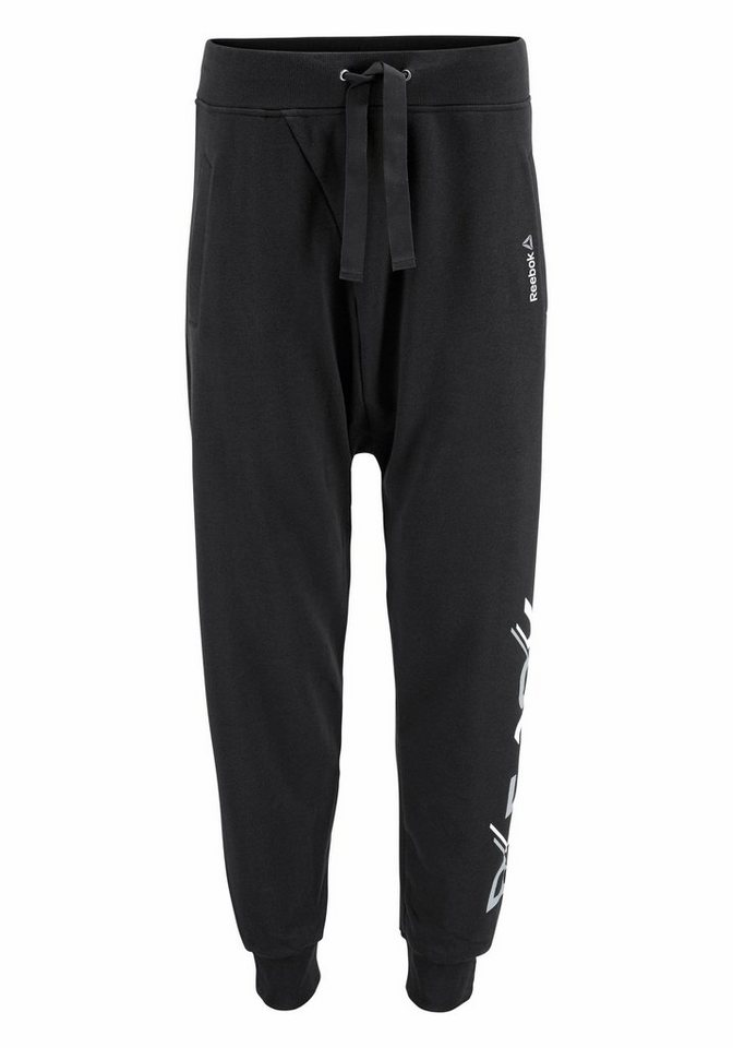 Reebok Trainingshose »DF KNIT PANT« in schwarz