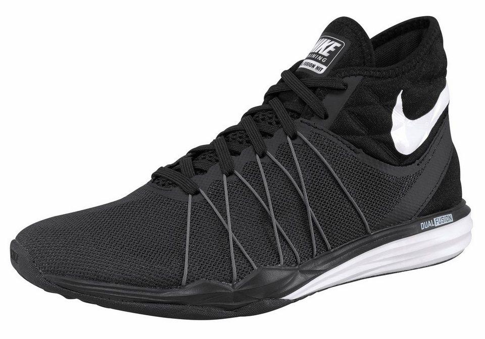 Nike »Dual Fusion TR HIT Mid« Fitnessschuh in schwarz-weiß