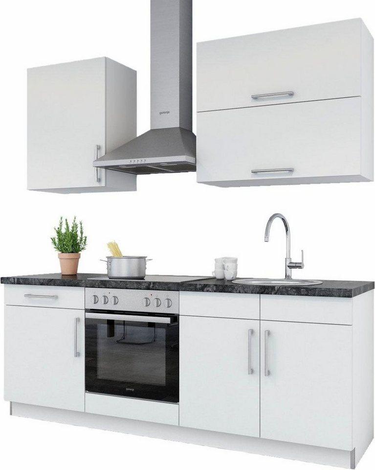 set one by Musterring Küchenzeile »Nepal« ohne E-Geräte, Breite 210 cm in weiß