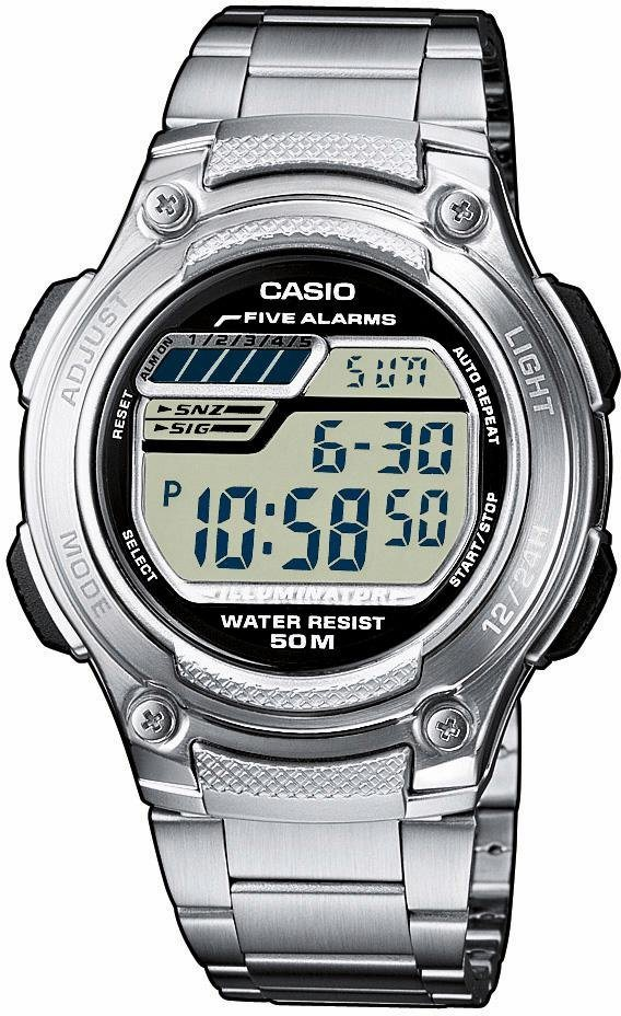 Casio Collection Chronograph »W-212HD-1AVEF« in silberfarben