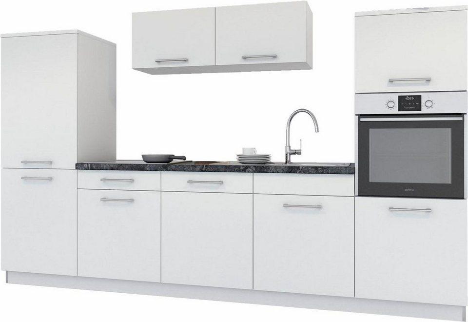 set one by Musterring »Bari« Küchenzeile mit E-Geräten, Breite 300 cm in weiß