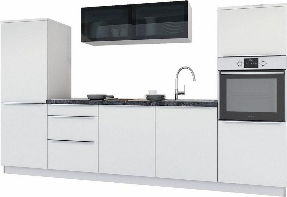 set one by Musterring Küchenzeile »Pisa« ohne E-Geräte, Breite 300 cm in weiß