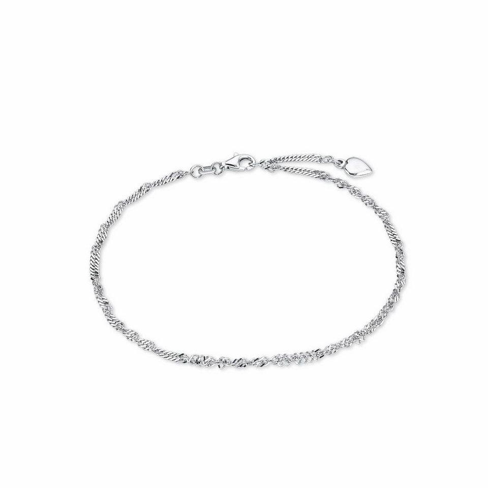 Amor Fußkette mit Anhänger »Herz, J43/4 92166« in Silber 925
