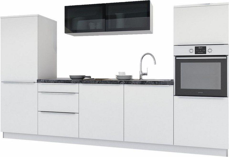 set one by Musterring Küchenzeile »Pisa« mit E-Geräten, Breite 300 cm in weiß