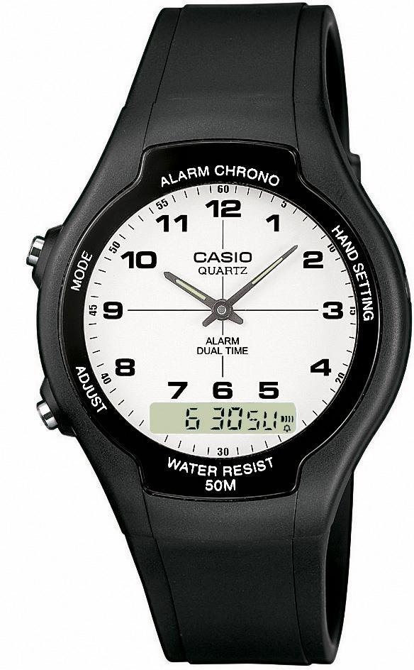 Casio Collection Chronograph »AW-90H-7BVES« in schwarz