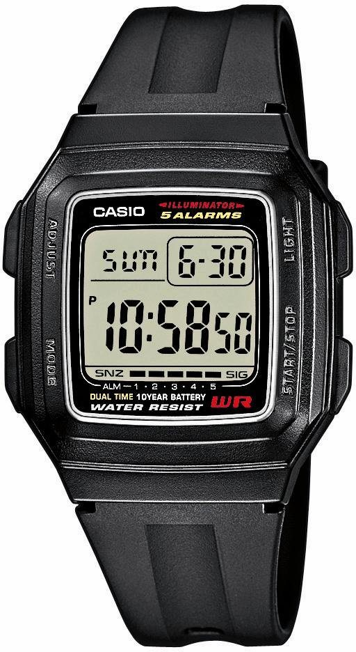Casio Collection Chronograph »F-201WA-1AEF« in schwarz