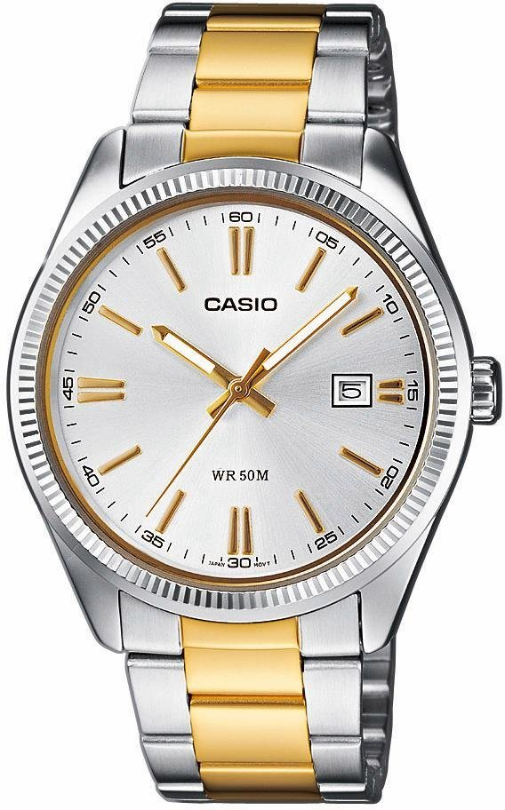 Casio Collection Quarzuhr »MTP-1302PSG-7AVEF« in silberfarben-goldfarben