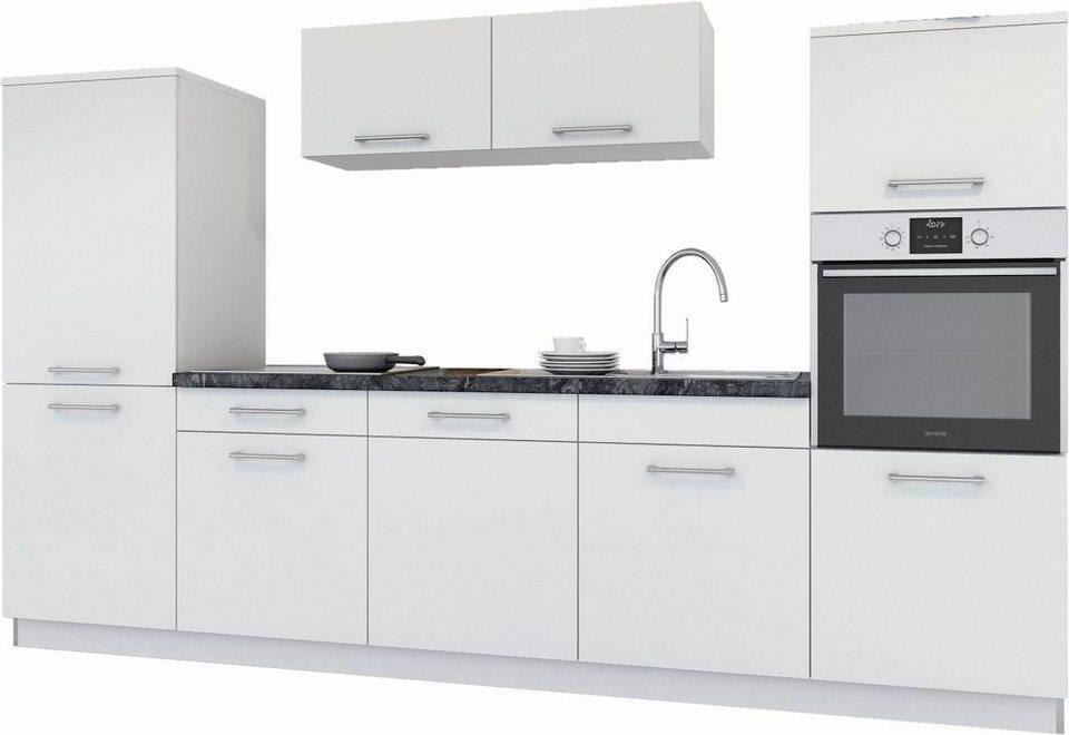 set one by Musterring Küchenzeile »Bari« ohne E-Geräte, Breite 300 cm in weiß
