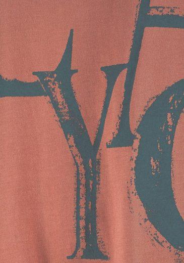Buffalo Modisches Bigshirt mit Frontschriftzug