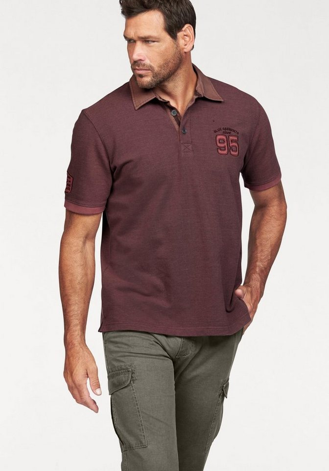 Man's World Poloshirt in fuchsia